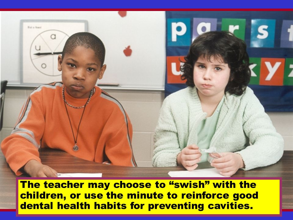 The teacher may choose to swish with the