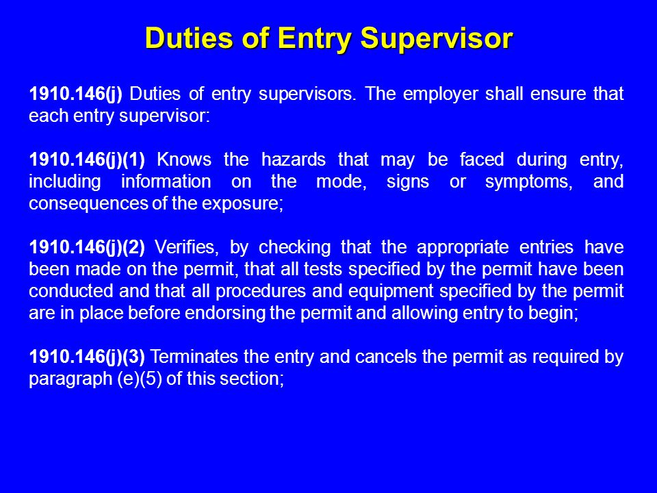 safety supervisor duties and responsibilities pdf