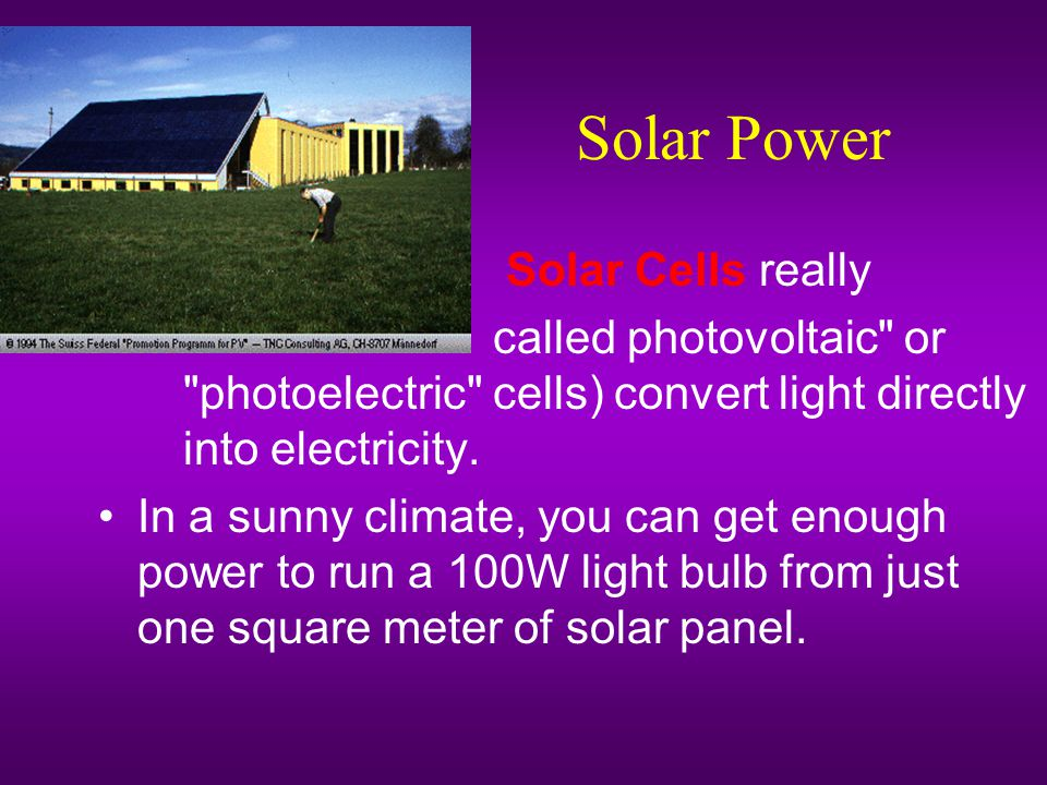 Solar Power Solar Cells really