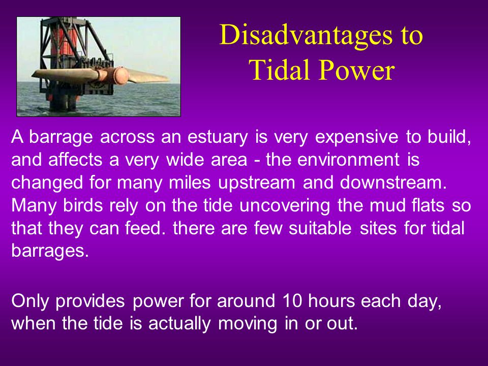 Disadvantages to Tidal Power