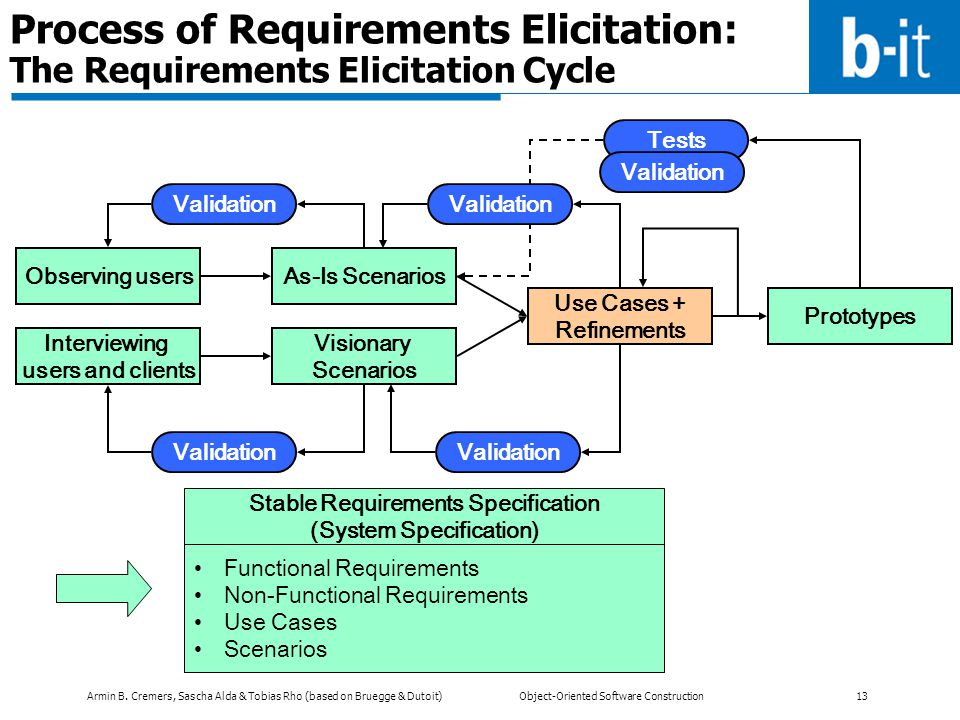 Process of Requirements Elicitation: The Requirements Elicitation Cycle