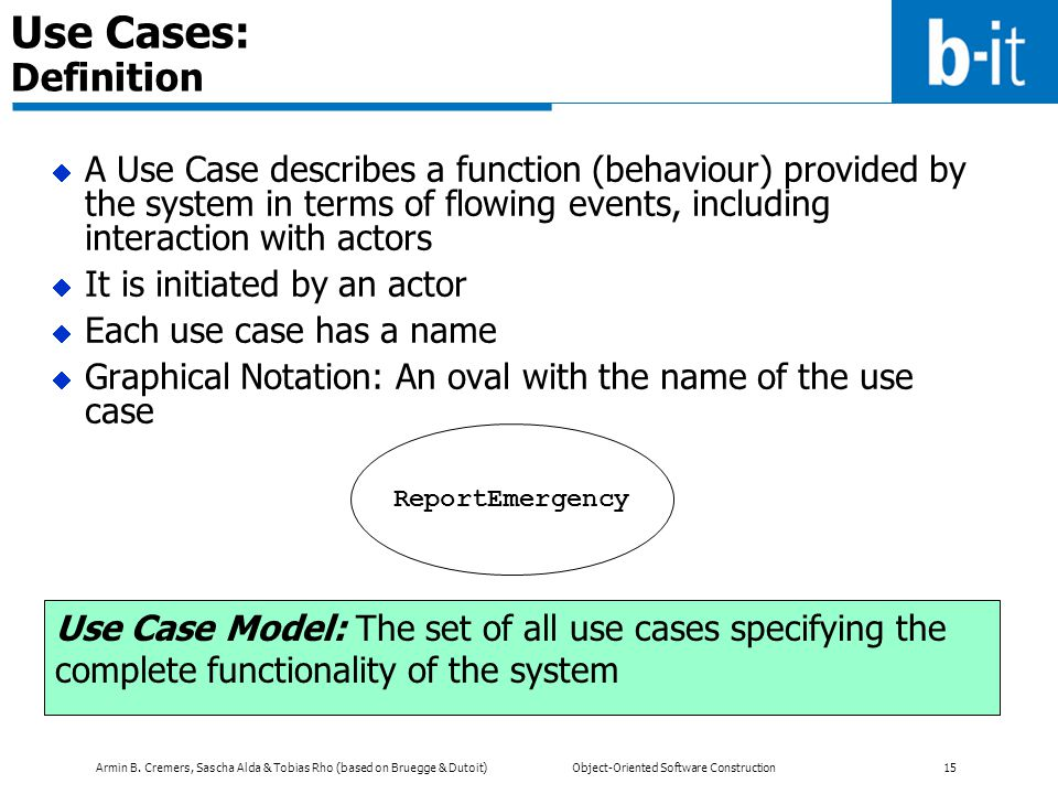 Use Cases: Definition