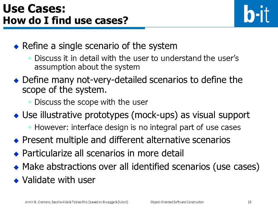 Use Cases: How do I find use cases