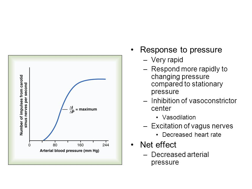 Response to pressure Net effect Very rapid