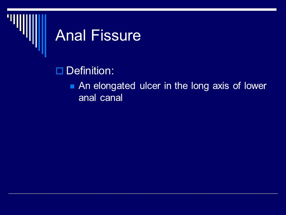 Anal Fissure Definition: