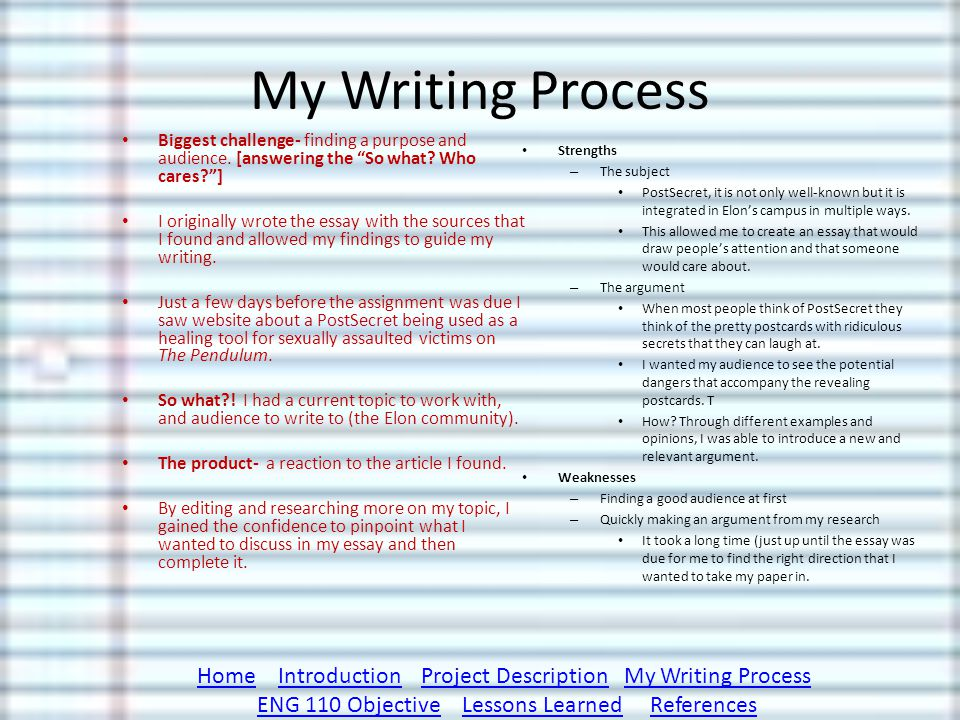 Poverty Essay Thesis  My Writing Process Biggest Challenge Finding A Purpose  Population Essay In English also Essay About Healthy Eating The Odd Object Essay Postsecret Not So Secret  Ppt Video Online  Thesis Of An Essay