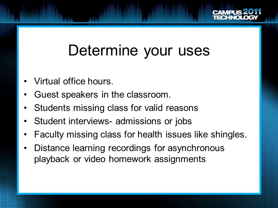 Determine your uses Virtual office hours.