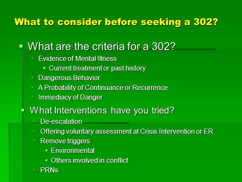 What to consider before seeking a 302