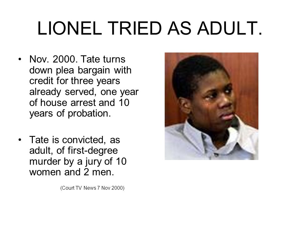 The Lionel Tate Case Ppt Download