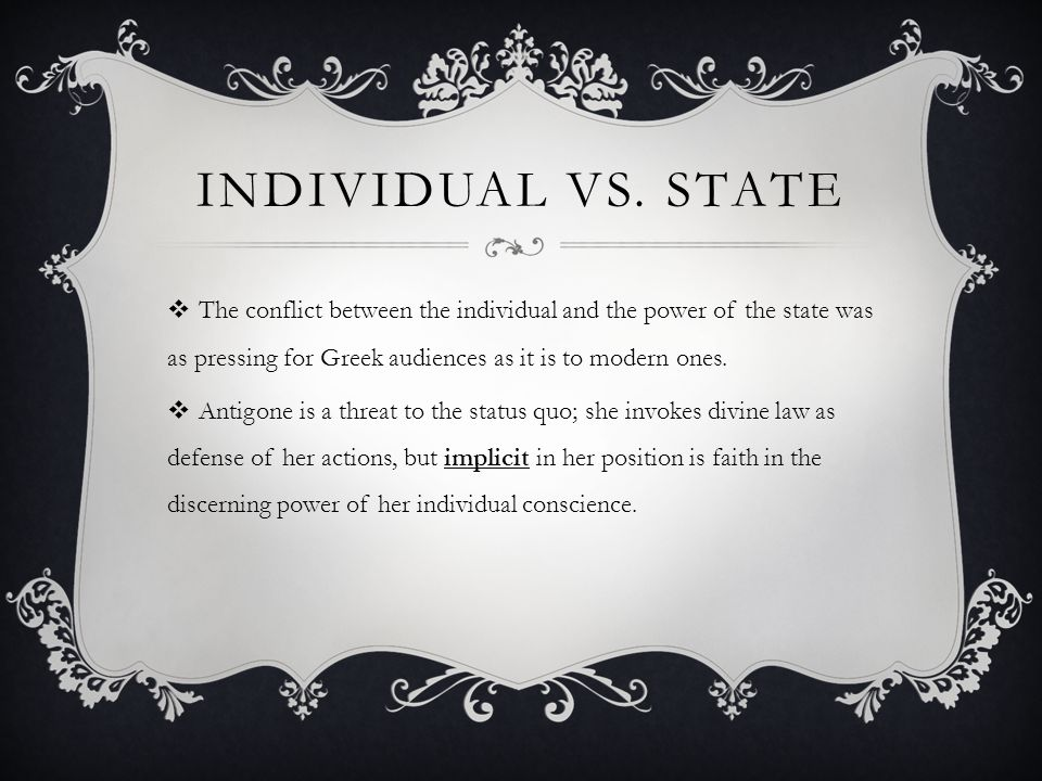 Image result for the STATE vs the Individual