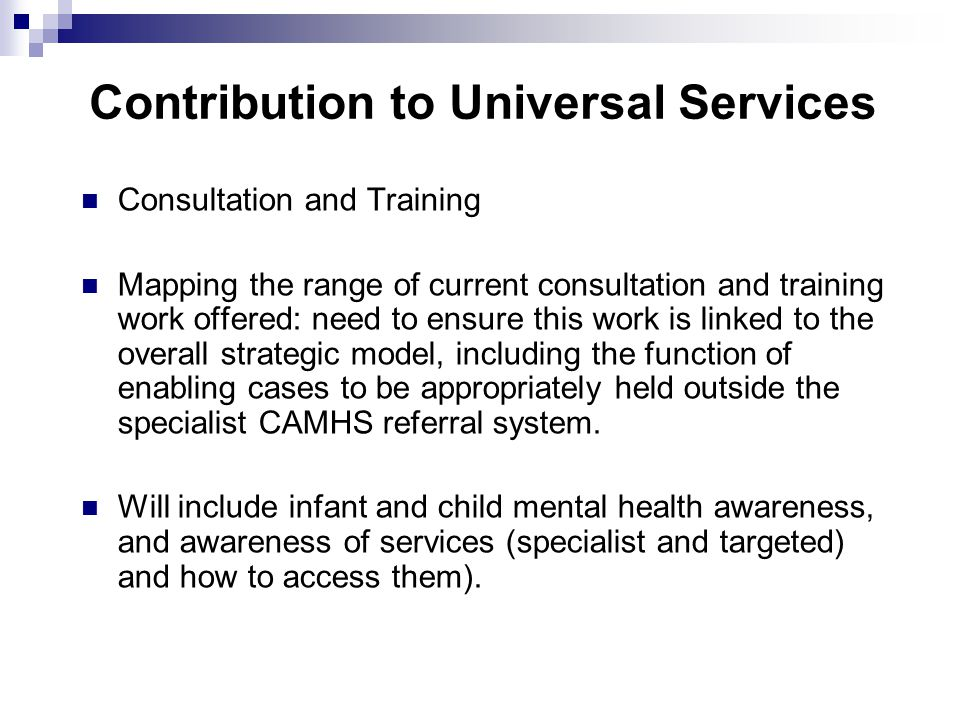 Contribution to Universal Services
