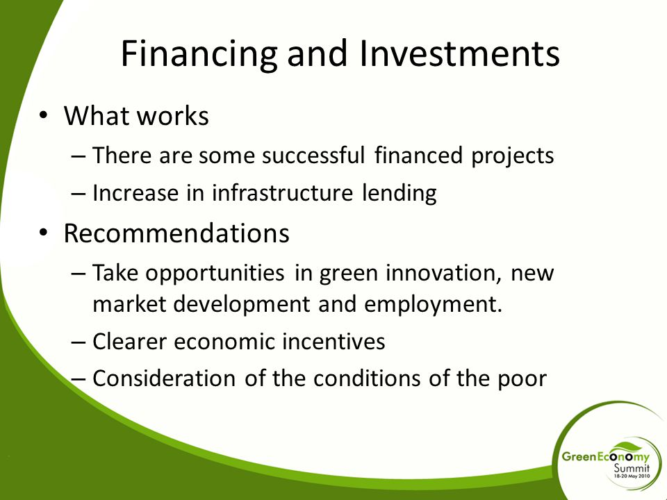 Financing and Investments