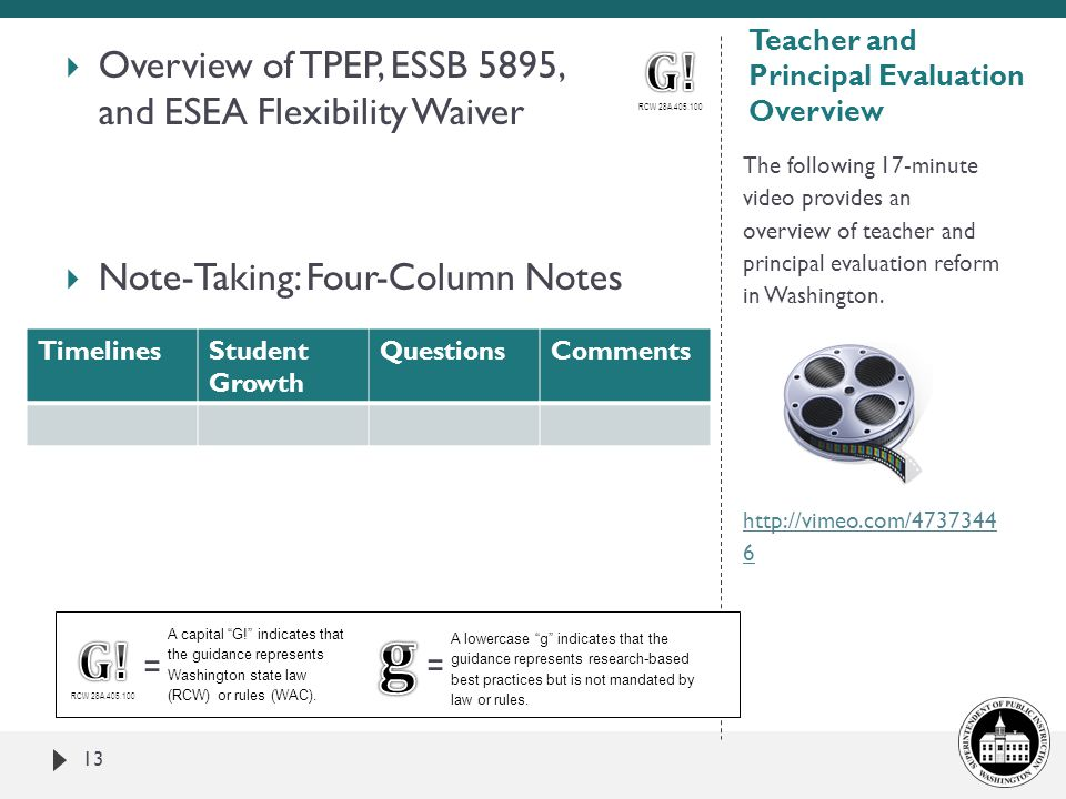 Teacher and Principal Evaluation Overview
