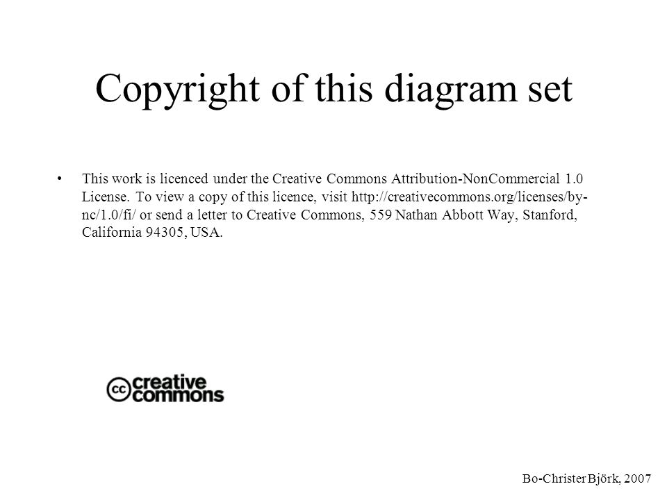 Copyright of this diagram set