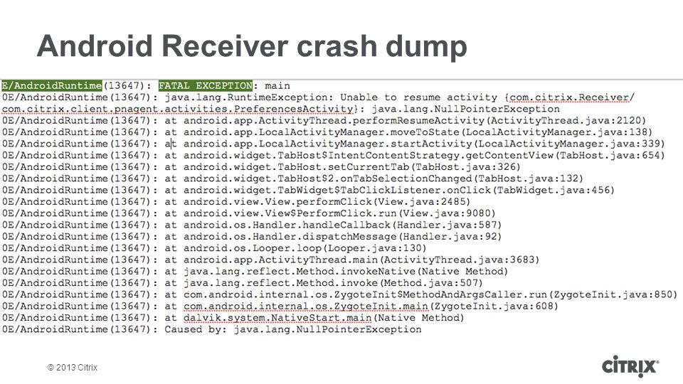 SUM405: Troubleshooting and Debugging Receiver for iOS and Android