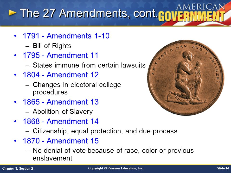 Chapter 3 The Constitution Section 2 Ppt Video Online Download. The 27 Amendments Cont 1791 110 1795 Amendment 11. Worksheet. 27 Amendments Worksheet At Clickcart.co