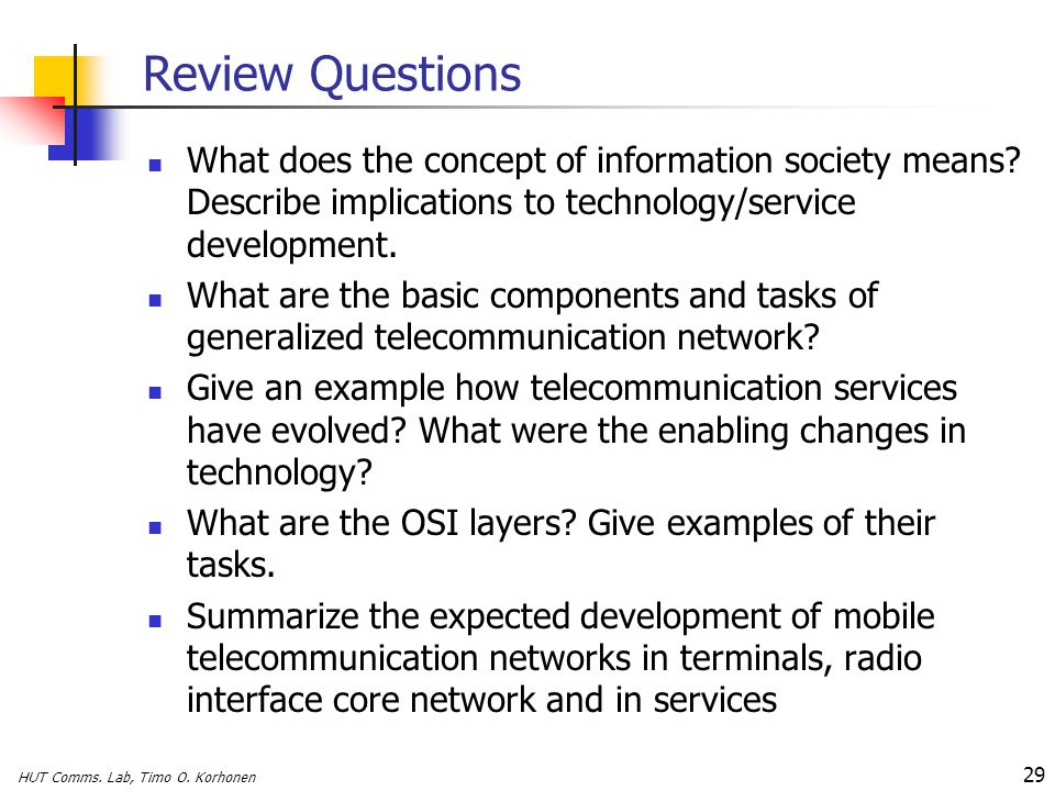 S Telecommunication Systems - ppt download