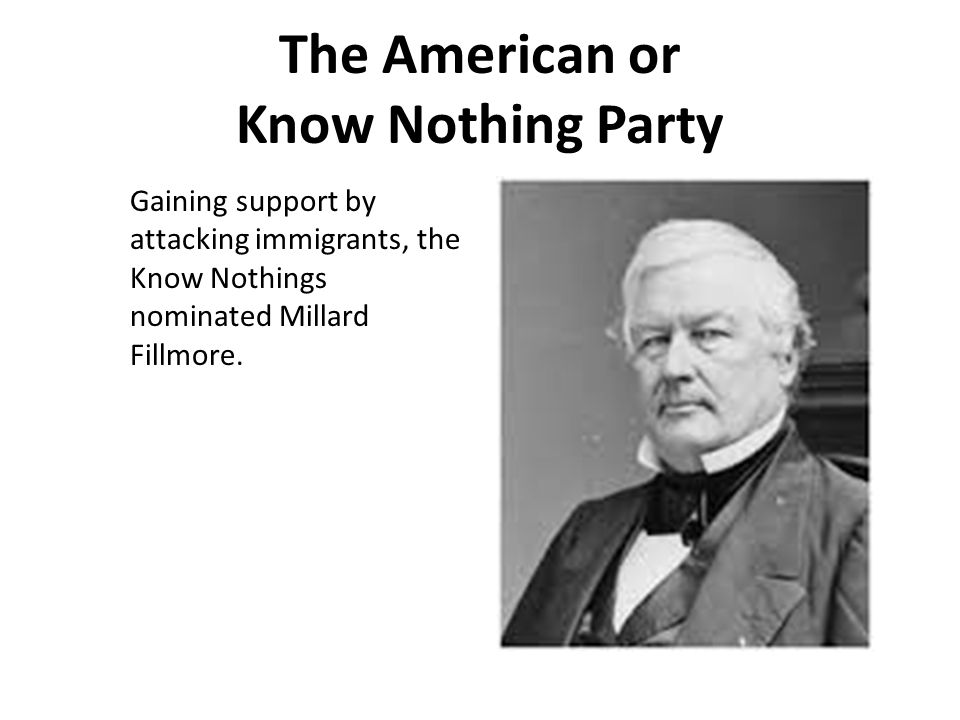 The American or Know Nothing Party
