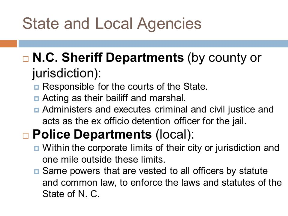 State and Local Agencies