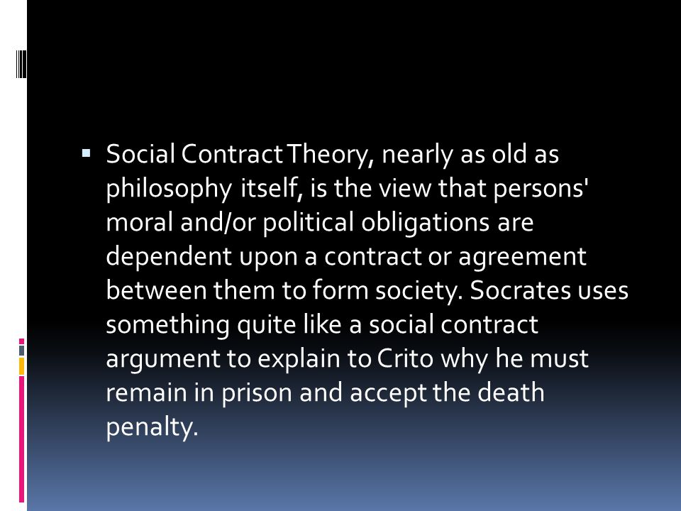 what is social contract theory in philosophy