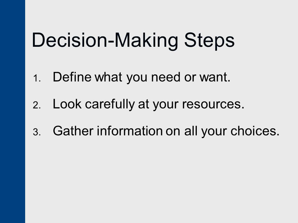 Decision-Making Steps