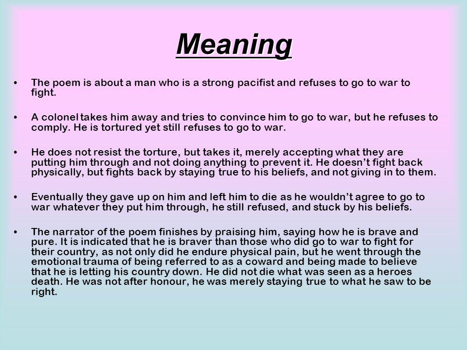 the colonel poem analysis