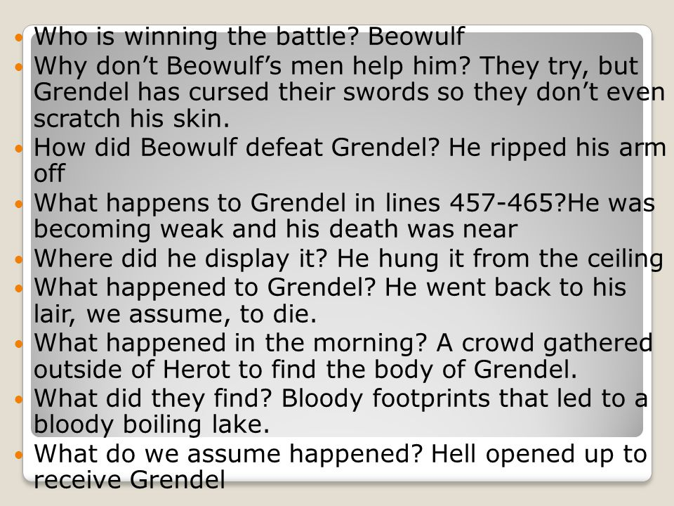 Who is winning the battle Beowulf