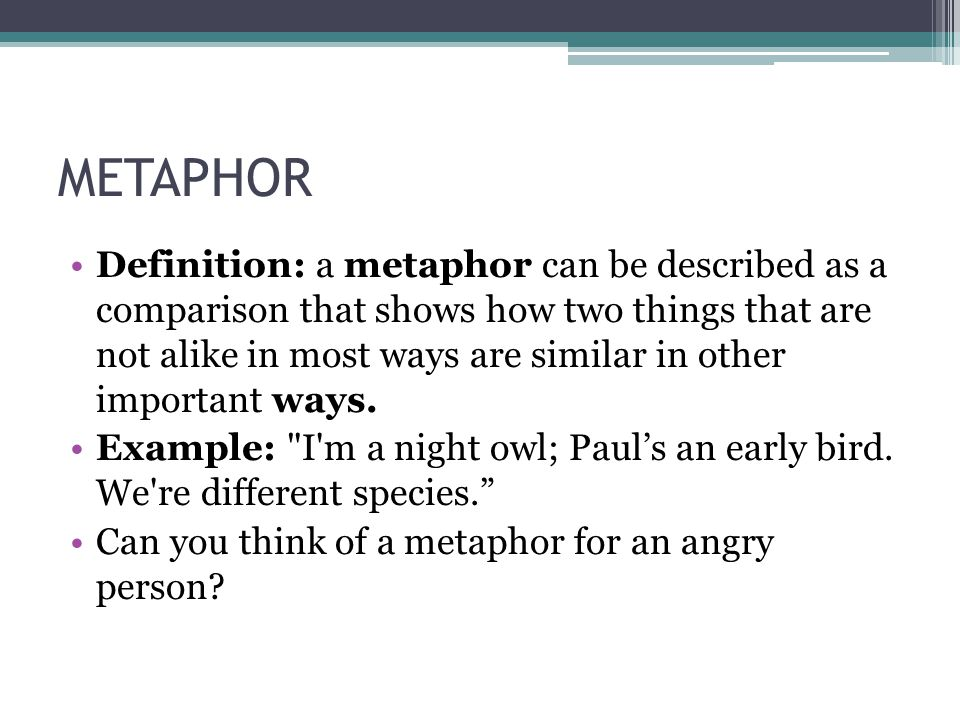 Definition And Example Of Metaphor Image Collections Example Cover