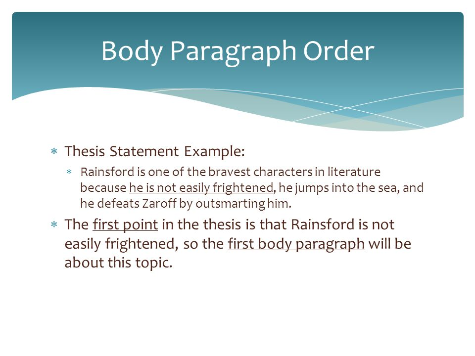 Thesis order