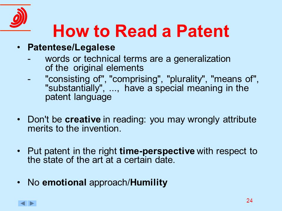 How To Read A Patent Patentese Legalese