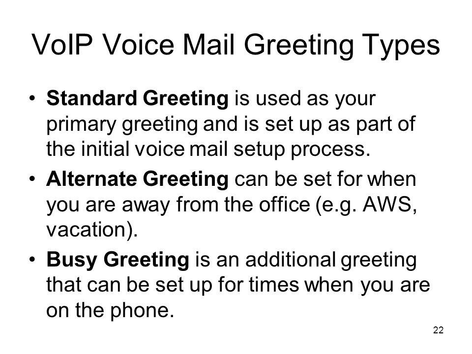 Desktop voip phonecallmanager training ppt download voip voice mail greeting types m4hsunfo