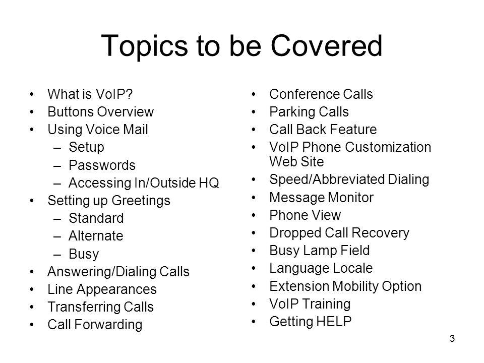 Desktop VoIP Phone/CallManager Training - ppt download