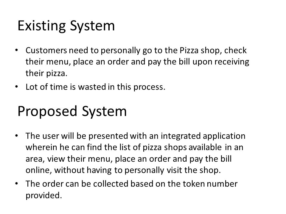 Mini Project Seminar on Pizza Ordering Application for