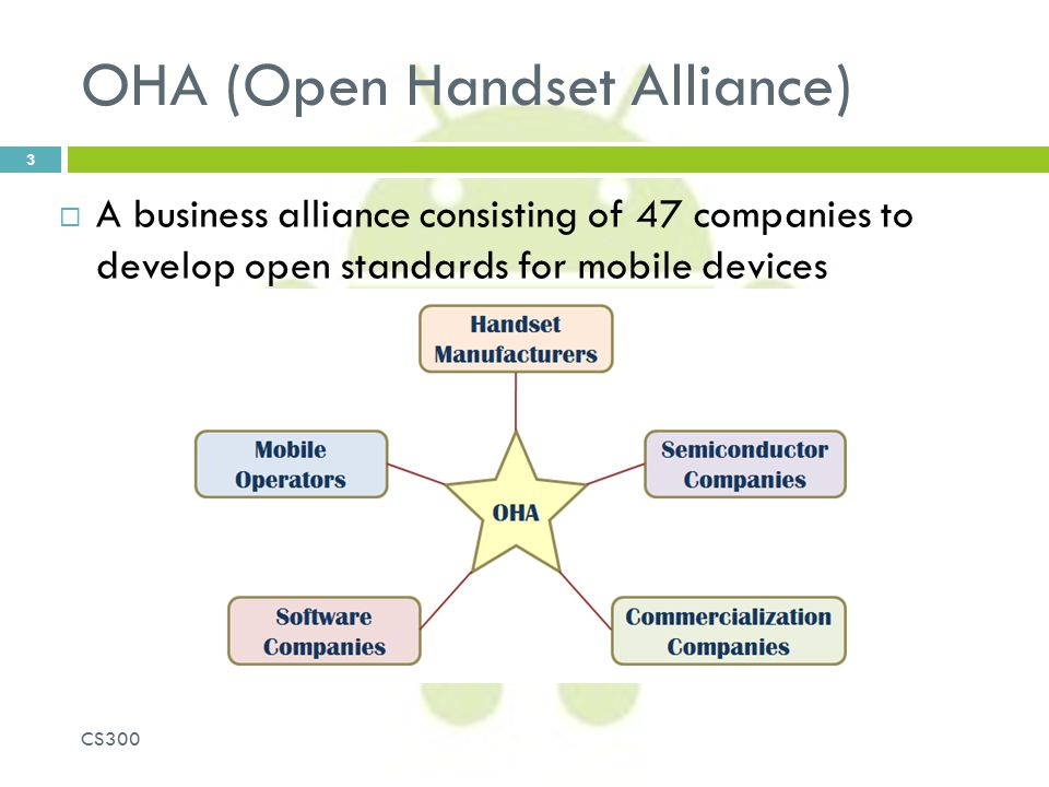 OHA (Open Handset Alliance)