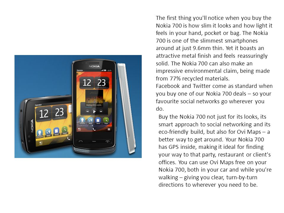 Jcb ppt download the first thing you ll notice when you buy the nokia 700 is how slim it urtaz Images
