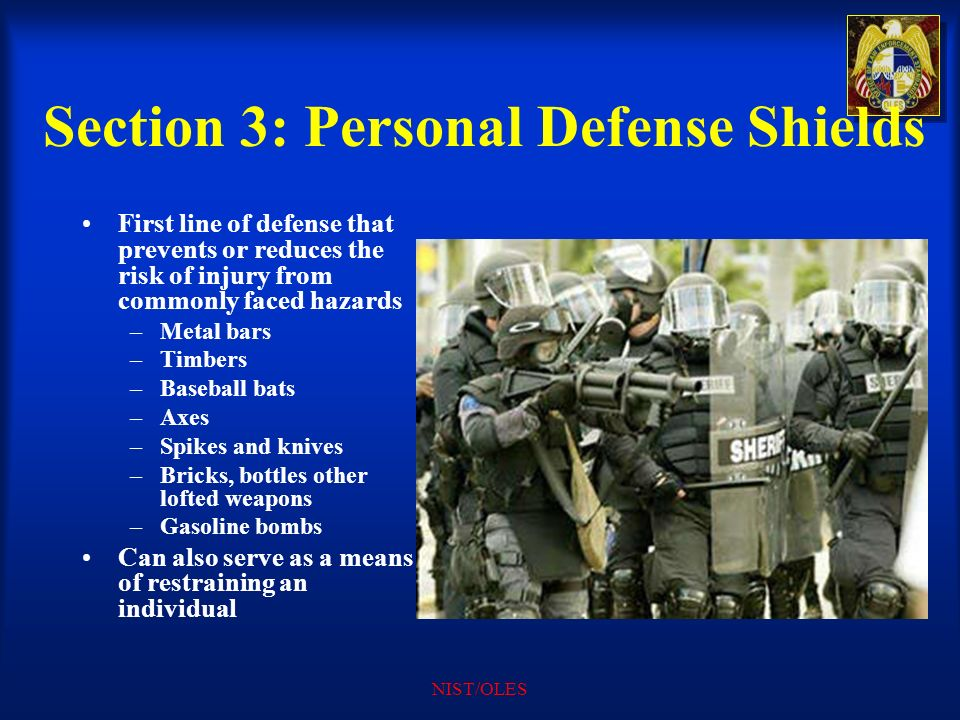 Section 3: Personal Defense Shields