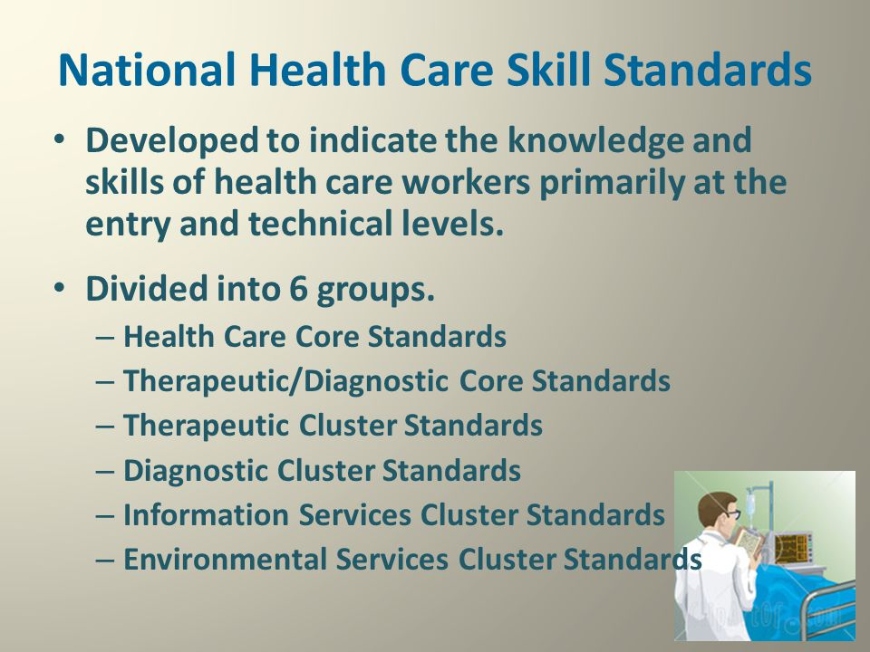 National Health Care Skill Standards