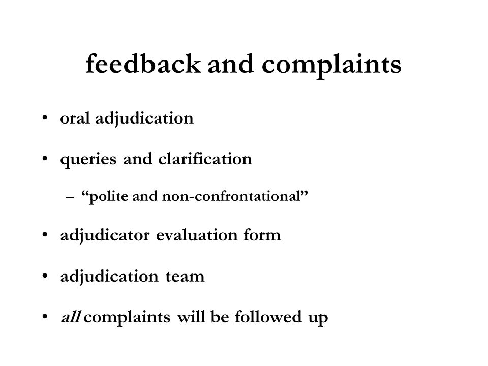 feedback and complaints