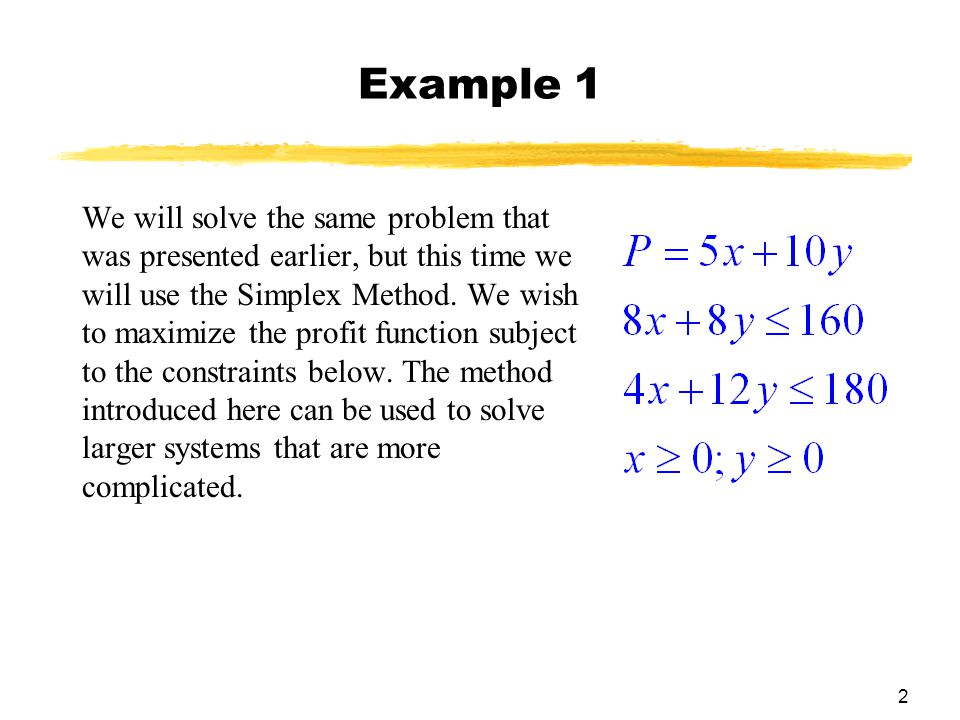 Chapter 6 Linear Programming: The Simplex Method - ppt video online