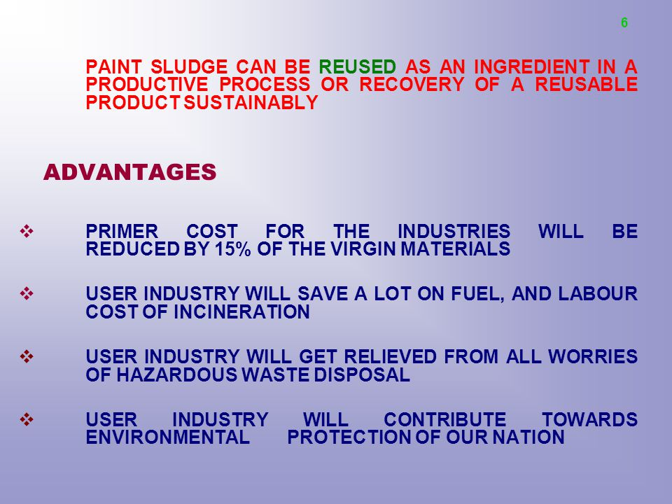RECYCLING OF PAINT SLUDGE - ppt video online download