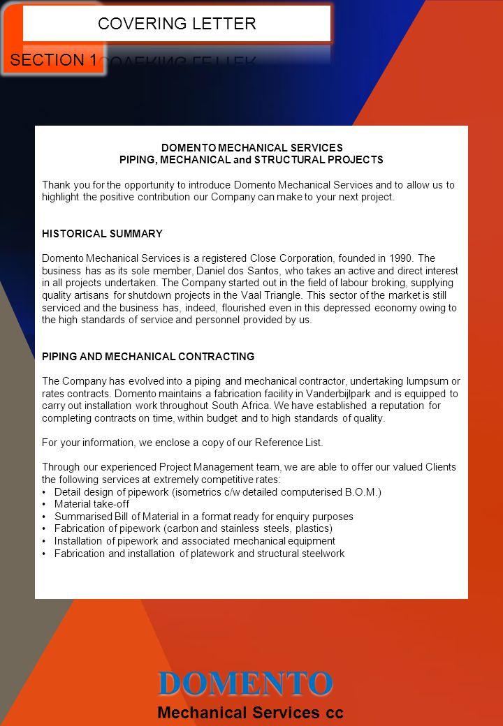 DOMENTO COMPANY PROFILE Mechanical Services cc DOMENTO - ppt video ...