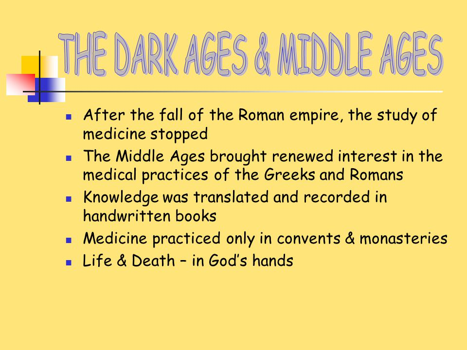 dates of the middle ages