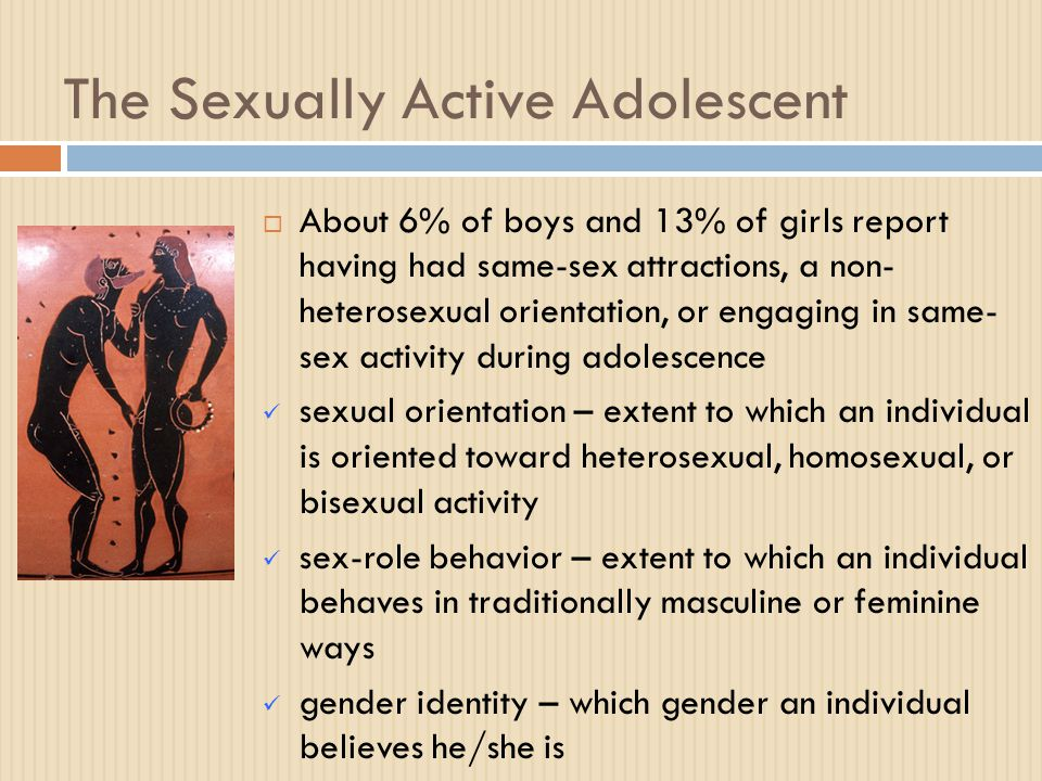 Meaning of being sexually active