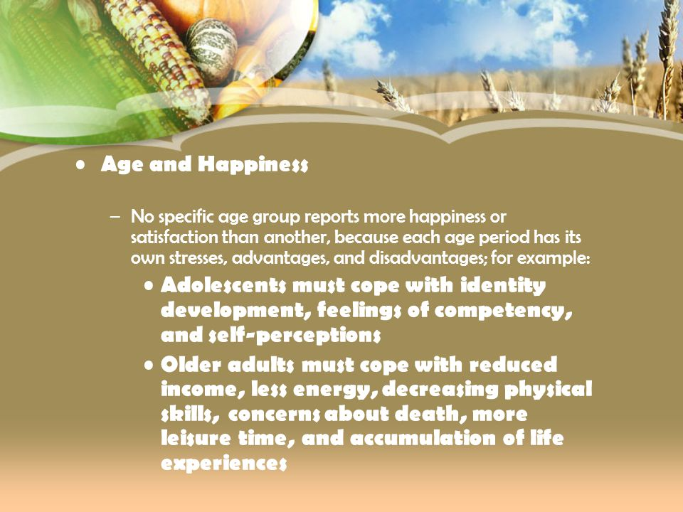 Age and Happiness
