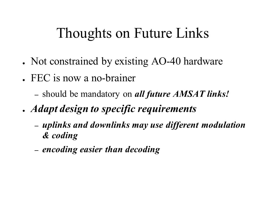 Thoughts on Future Links