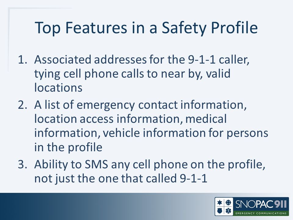 Top Features in a Safety Profile