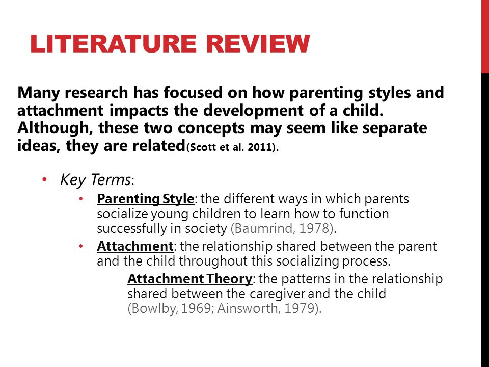 literature review parenting styles and child development essay This review was in part supported by a research grant (mh-03991) from the  of human development, 1203 tolman hall, university of california, berkeley, california 94720  educators, parents, and child-development experts permissive the permissive parent attempts to behave in a nonpunitive, acceptant.