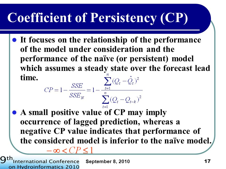 Coefficient of Persistency (CP)