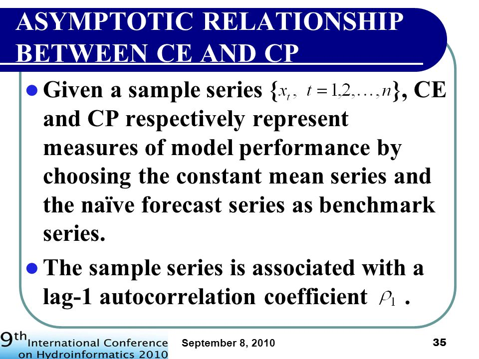 ASYMPTOTIC RELATIONSHIP BETWEEN CE AND CP