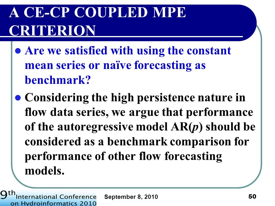A CE-CP COUPLED MPE CRITERION